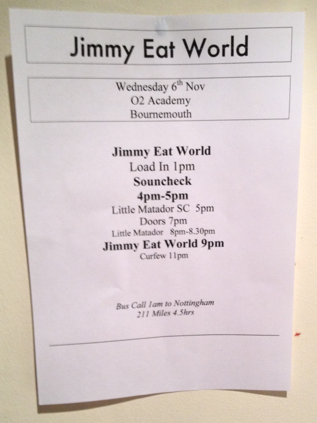 Jimmy Eat World were here...